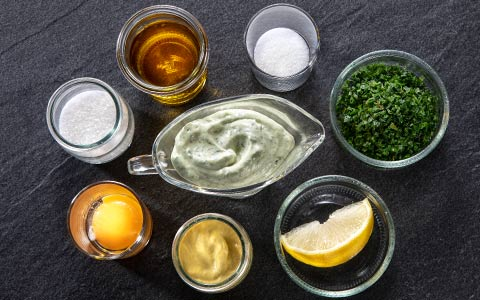 Homemade chives mayonnaise